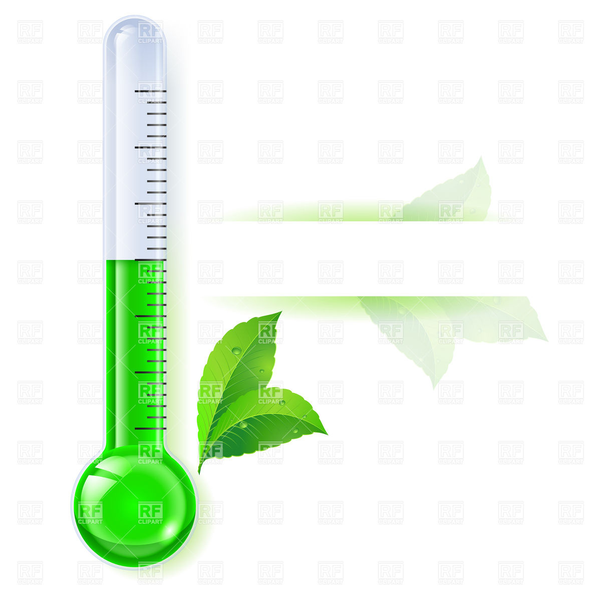1200x1200 Green Thermometer Icon
