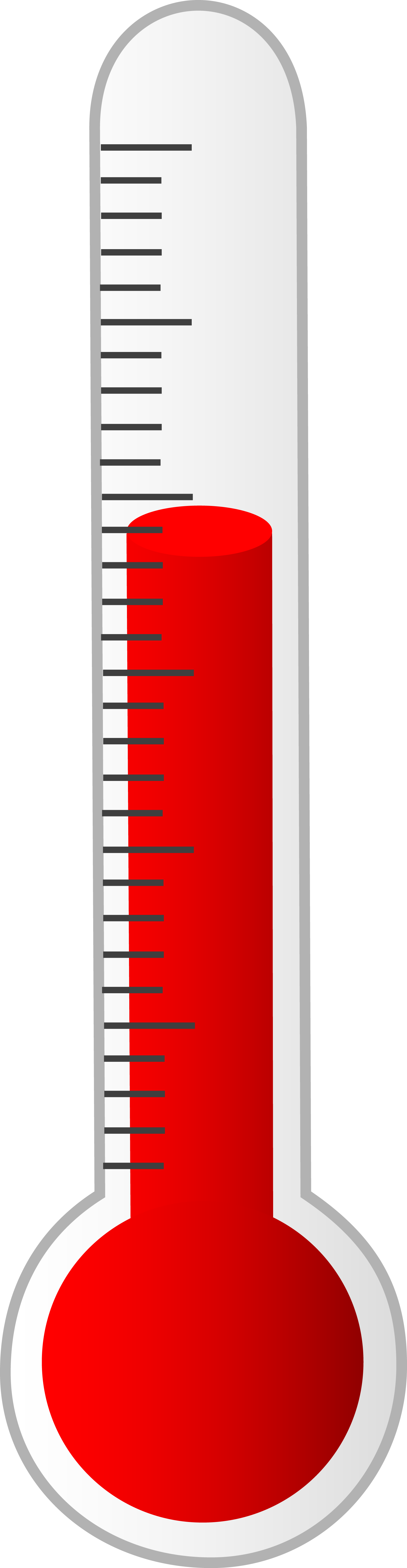 1590x6130 Printable Fundraising Thermometer Clipart