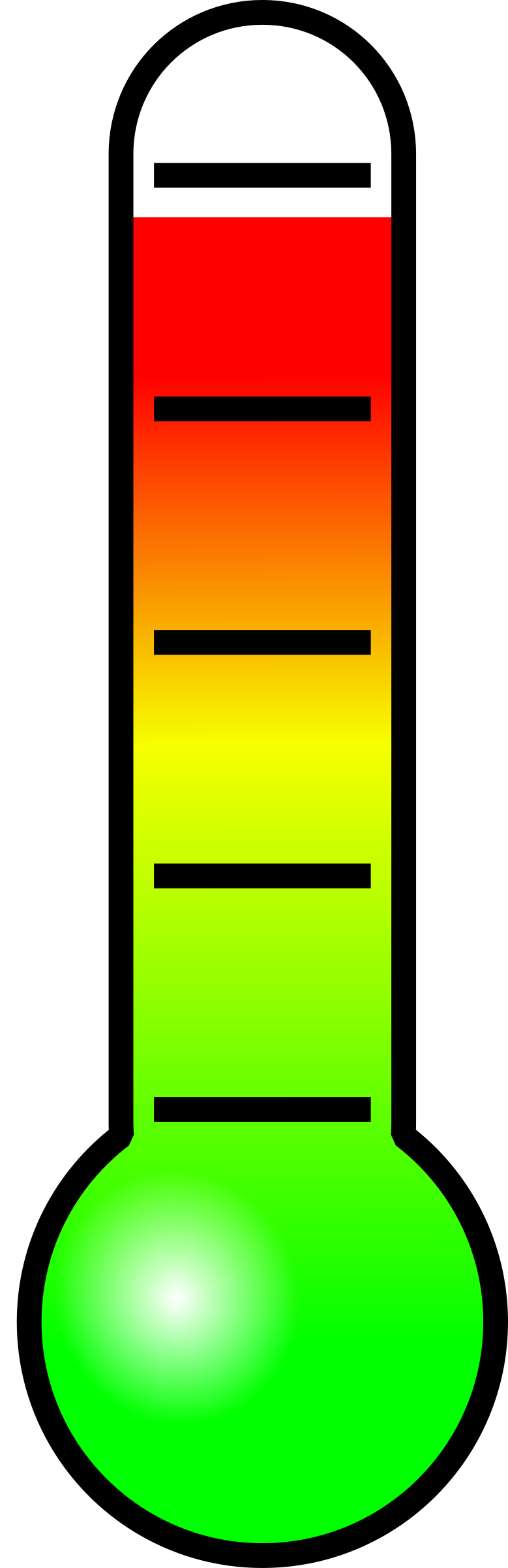 779x2400 Thermometer Clip Art 6 Image