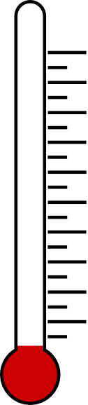 126x578 Blank Fundraising Thermometer Clip Art