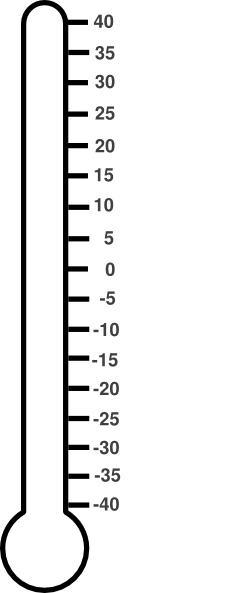 It's just an image of Printable Fundraiser Thermometer in progress