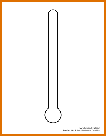 Fundraising thermometer template free download best for Free fundraiser thermometer template