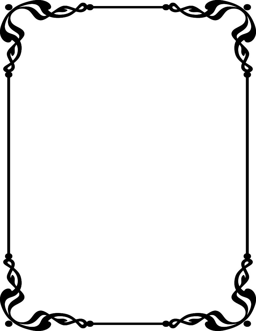 850x1100 Obituary Cliparts Borders