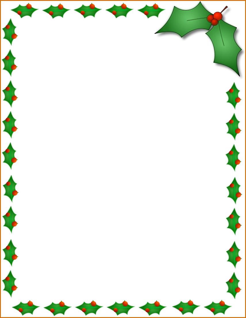 856x1106 Christmas Borders For Word