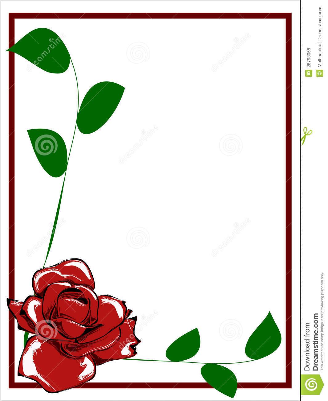 1065x1300 White Rose Border Clipart