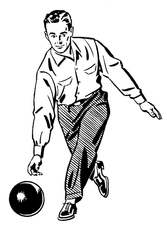 1077x1500 Retro Bowling Clipart
