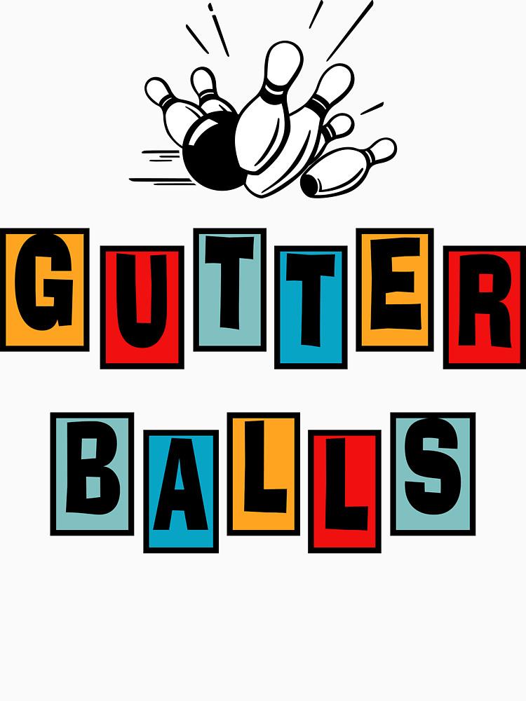 750x1000 Funny Gutter Balls Bowling T Shirt Unisex T Shirt By Sportst