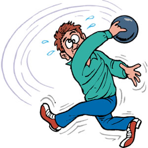 Bowling person. Funny cliparts free download