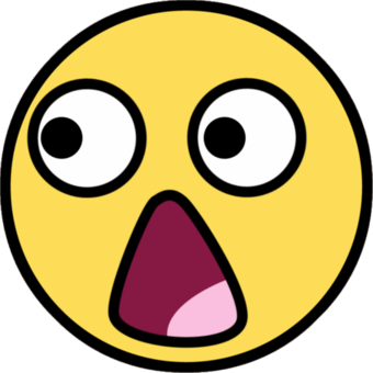 340x340 Shocking Clipart Funny Face