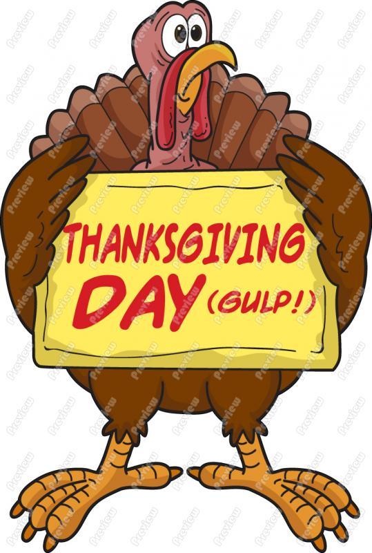 539x800 Scared Thanksgiving Turkey Clip Art