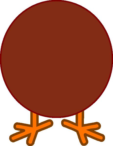 462x599 Brown Turkey Body Clip Art