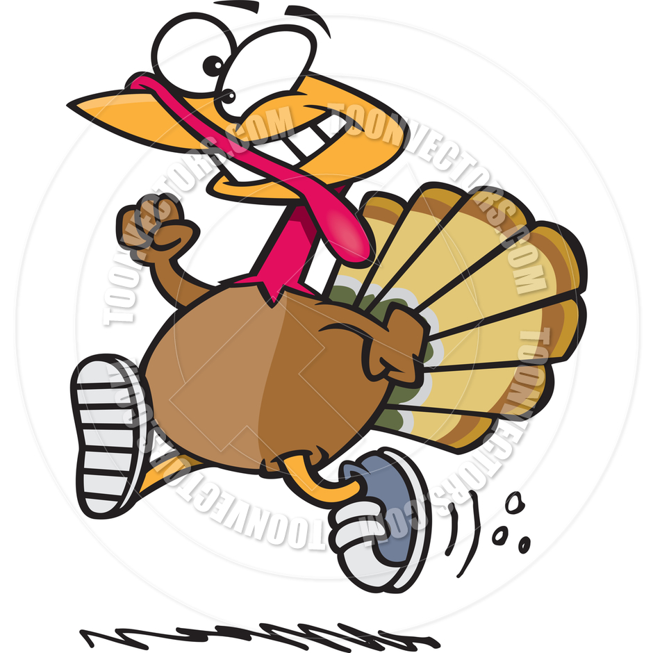 940x940 Cartoon Turkey Trot By Ron Leishman Toon Vectors Eps