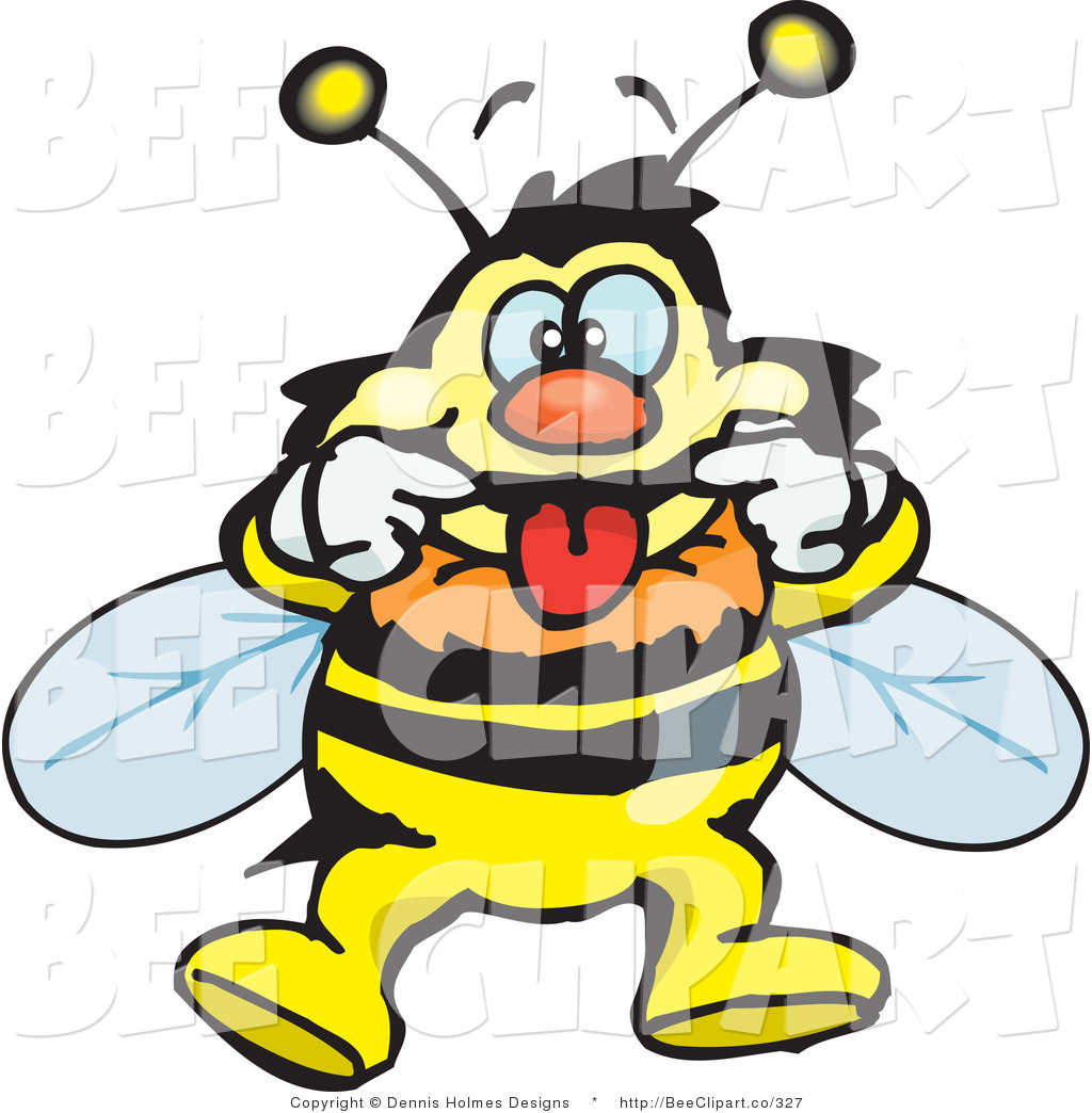 1024x1044 Vector Clip Art Of A Bee Making A Funny Face By Dennis Holmes