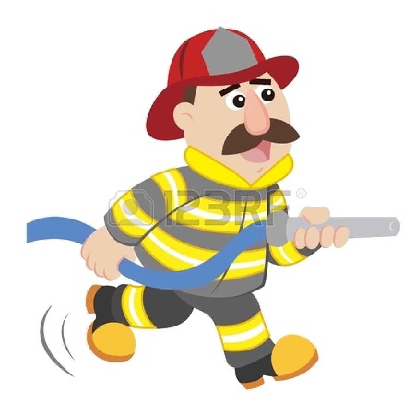 1350x1350 Fire Fighter Cartoon Group