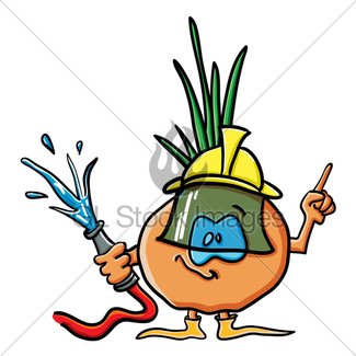325x325 Funny Cartoon Cucumber Is A Firefighter Gl Stock Images