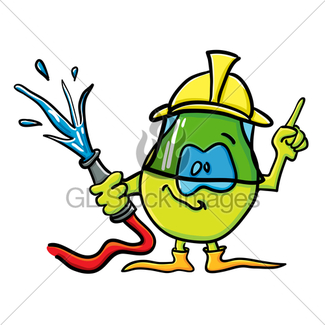 325x325 Funny Cartoon Pepper As A Firefighter Gl Stock Images