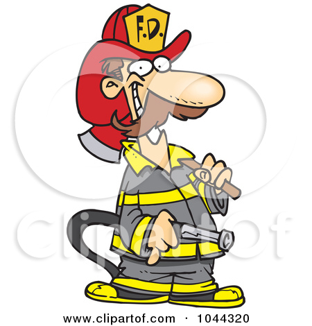 450x470 Funny Firefighter Clipart