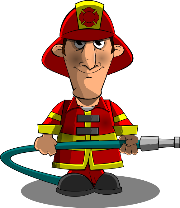578x669 Funny Firefighter Cartoon Free Clipart Images