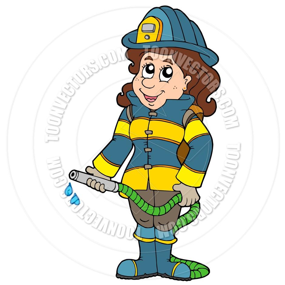 940x940 Girl Firefighter Cartoon Clipart Panda