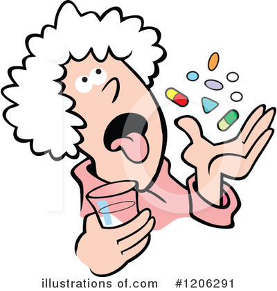 400x420 Funny Old Lady Clipart