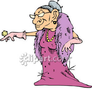 300x291 Funny Old Woman Clipart