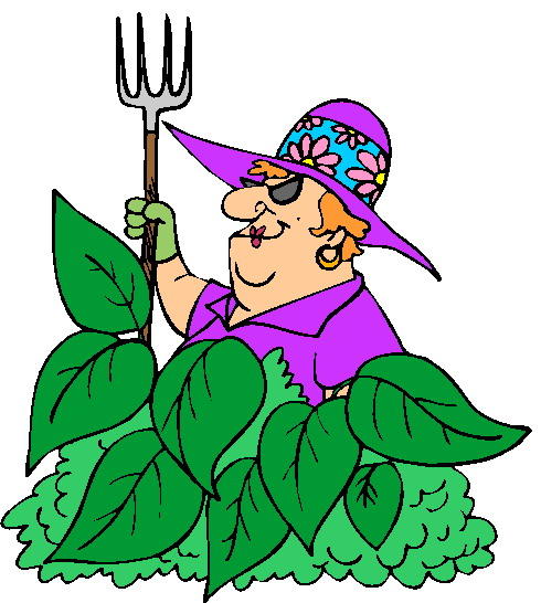 490x546 Funny Clipart Gardening
