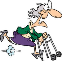 200x195 Funny Old Lady Clipart