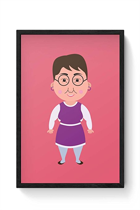 452x678 Posterguy Happy Cute Older Woman Funny Cartoon Cute Older Women