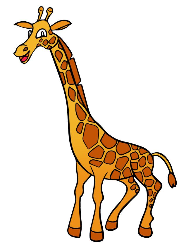 636x862 Moving Clipart Giraffe