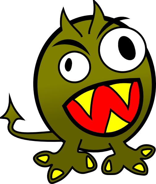 504x594 Small Funny Angry Monster Clip Art