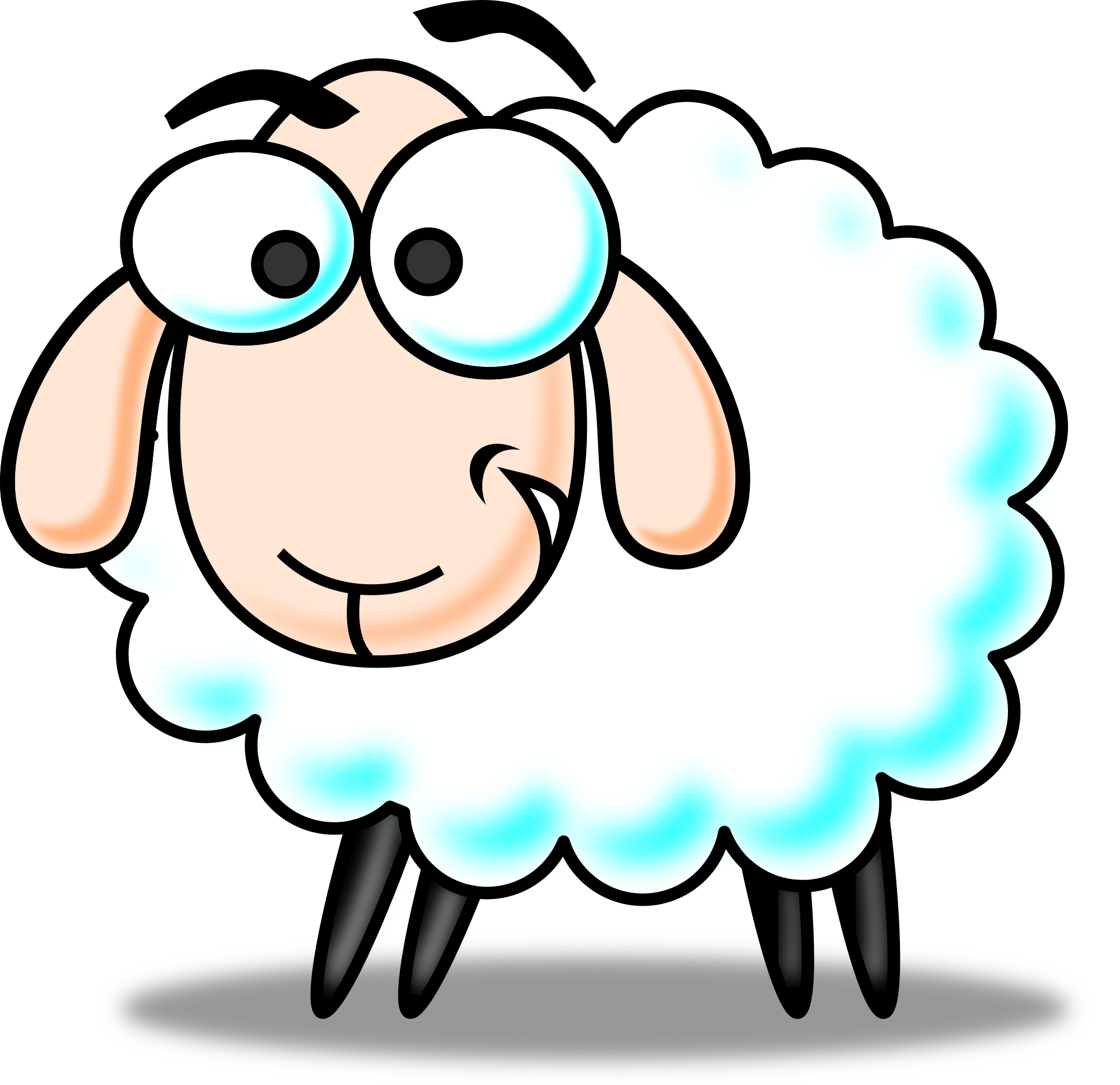 2000x1937 Animated Sheep Clipart