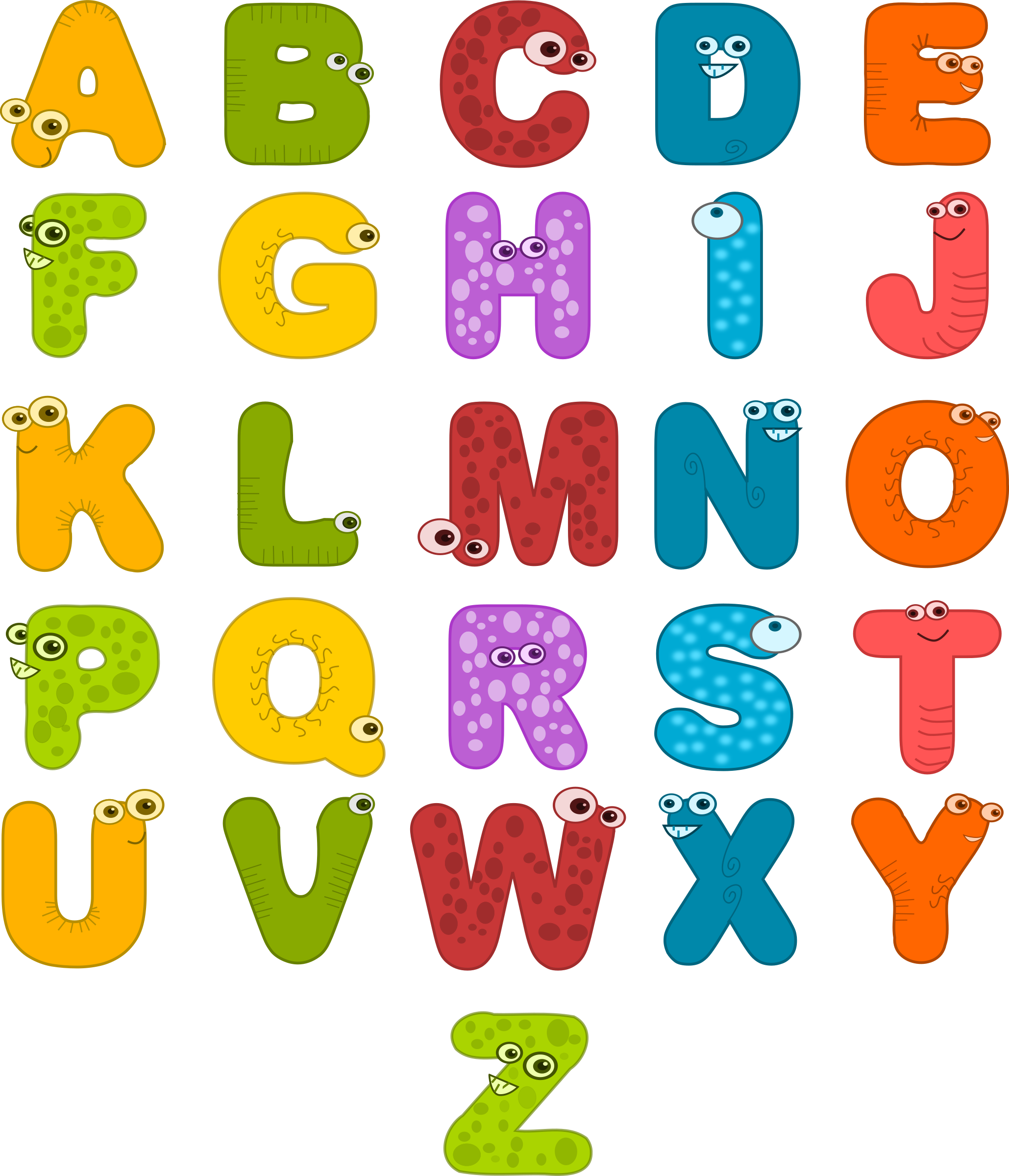 2059x2400 Clipart Of Alphabets Clipartmonk