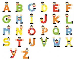 300x240 Funny Alphabet Letters Amp Numbers Wall Art Wall Art Nursery