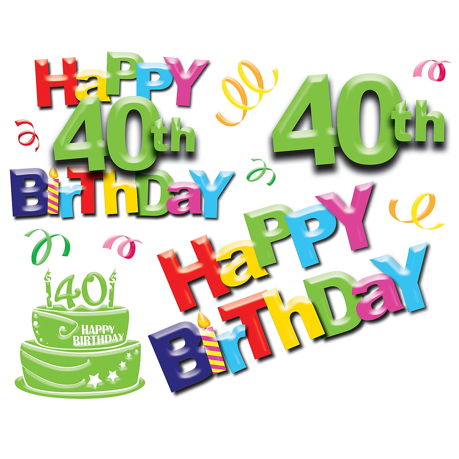 1600x1600 Free Funny 40th Birthday Clipart
