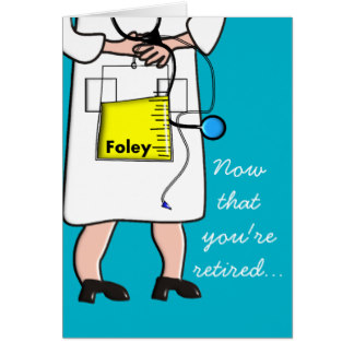 324x324 Funny Nurse Retirement Cards