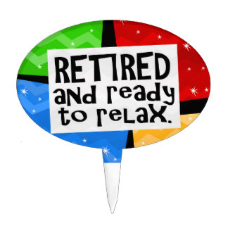 324x324 Funny Retirement Cake Toppers Zazzle