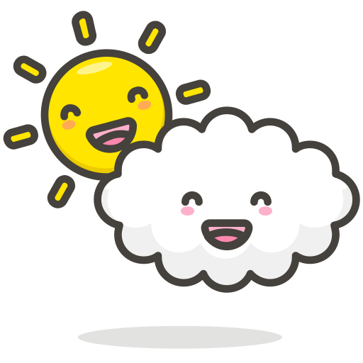 512x512 Cloudy,cloud,sun,funny Icon Free Of Another Emoji Icon Set