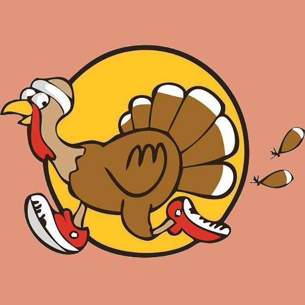 620x620 Funny Running Turkey Clipart