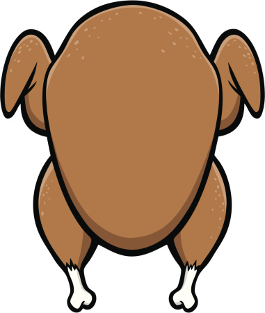 381x450 Cooked Turkey Clipart