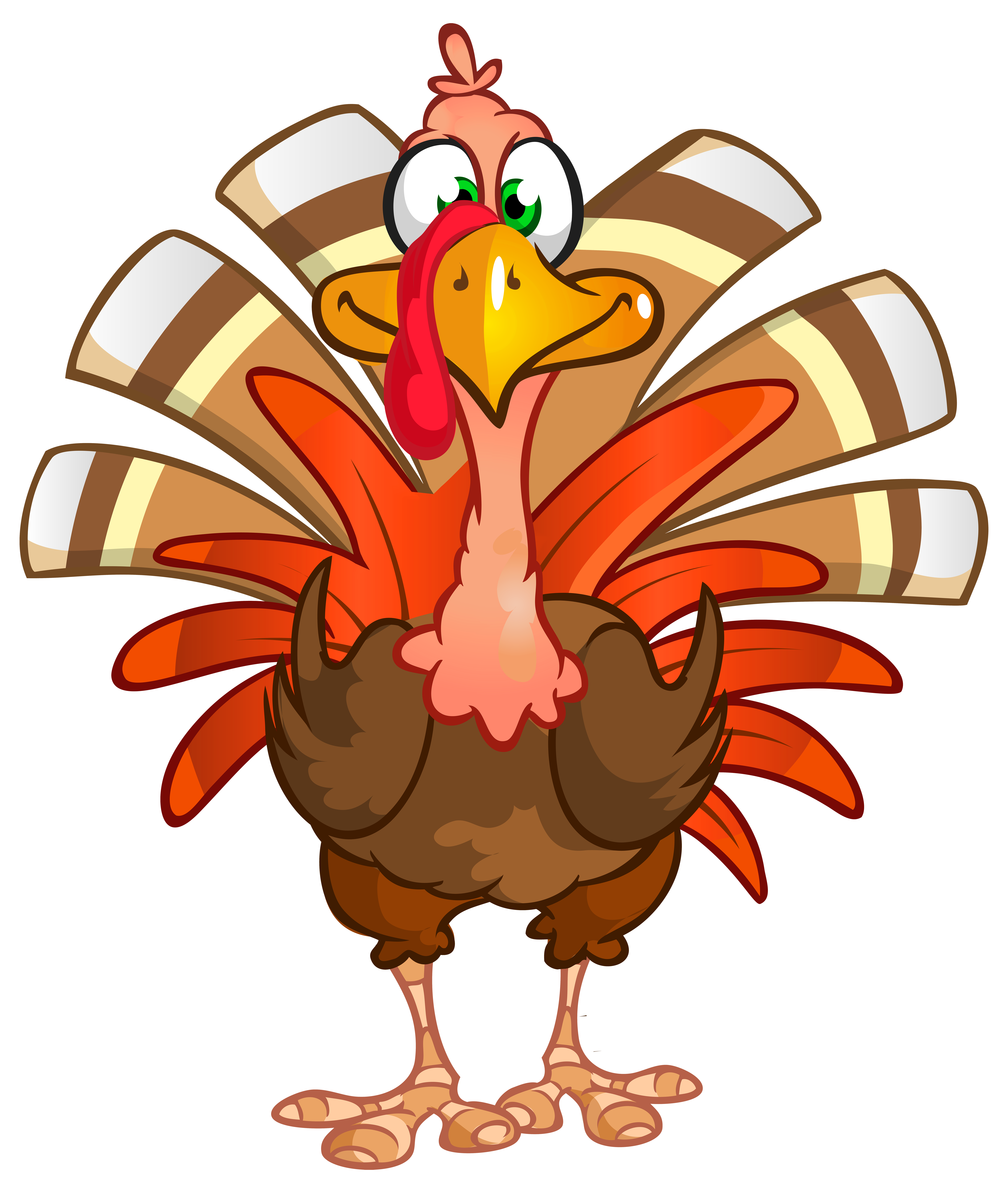 6761x8000 Thanksgiving Turkey Clipart Transparent