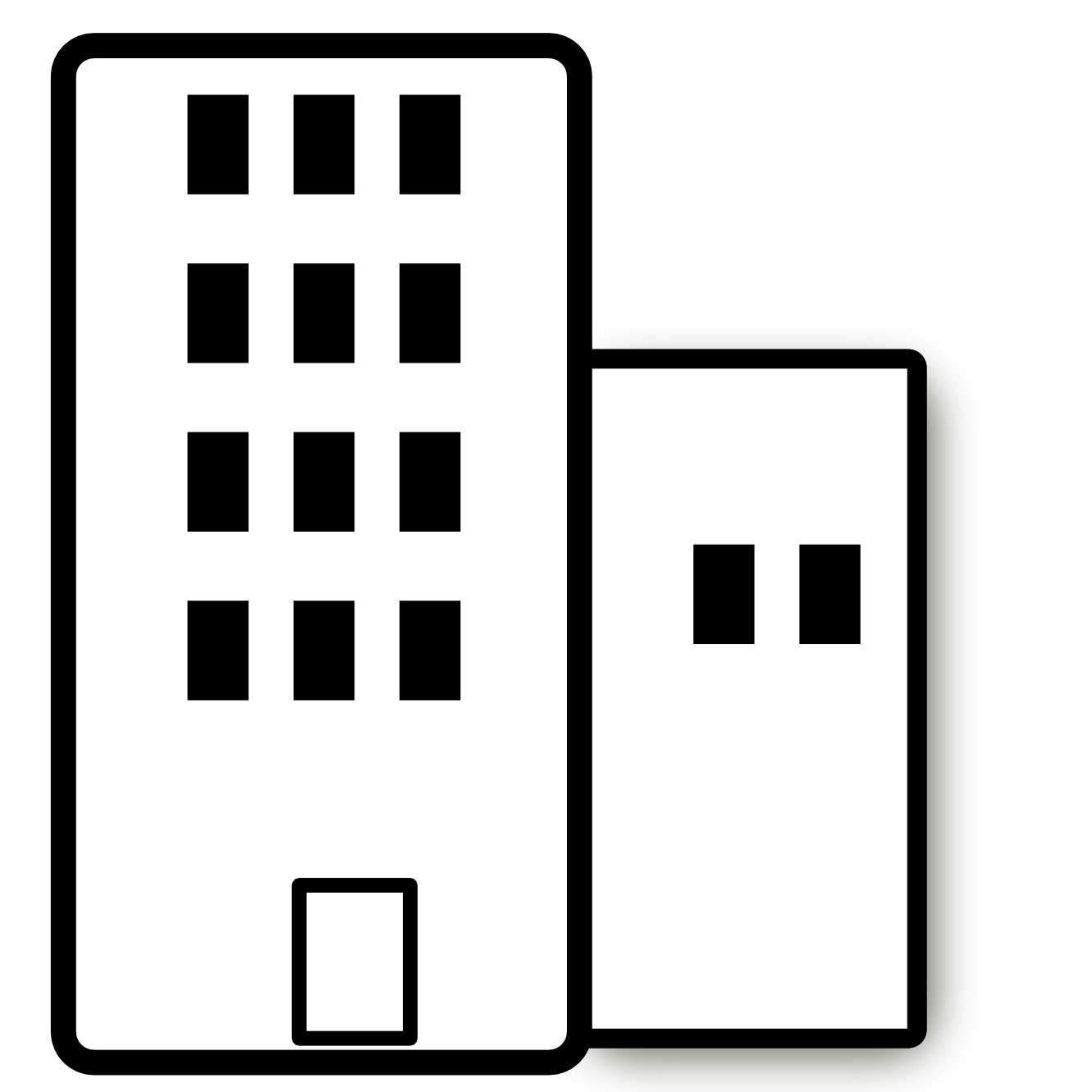 1331x1331 Black White Apartment Building Clip Art Home Furniture