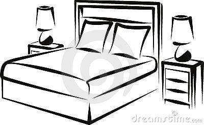 400x246 Black Amp White Clipart Bedroom