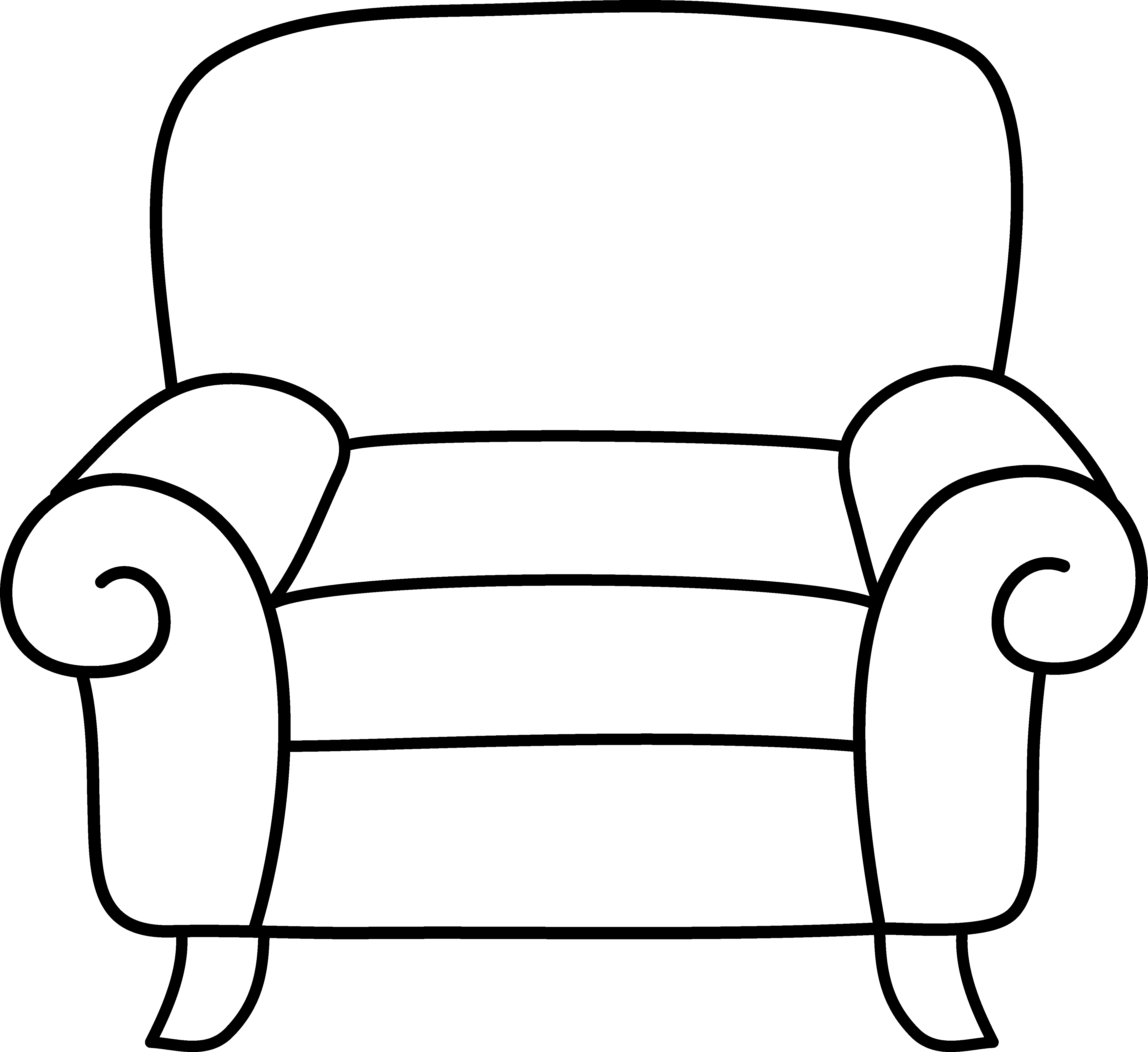 4646x4256 Chair Clipart Black And White