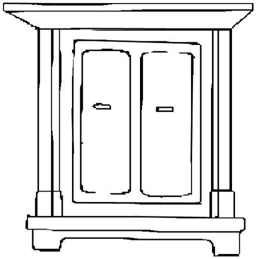 501x507 Furniture Black White Clipart