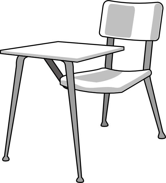 540x595 Furniture School Desk Clip Art Free Vector In Open Office Drawing