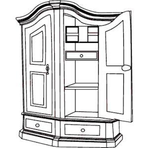 300x300 Kitchen Cabinet Symbols Clipart