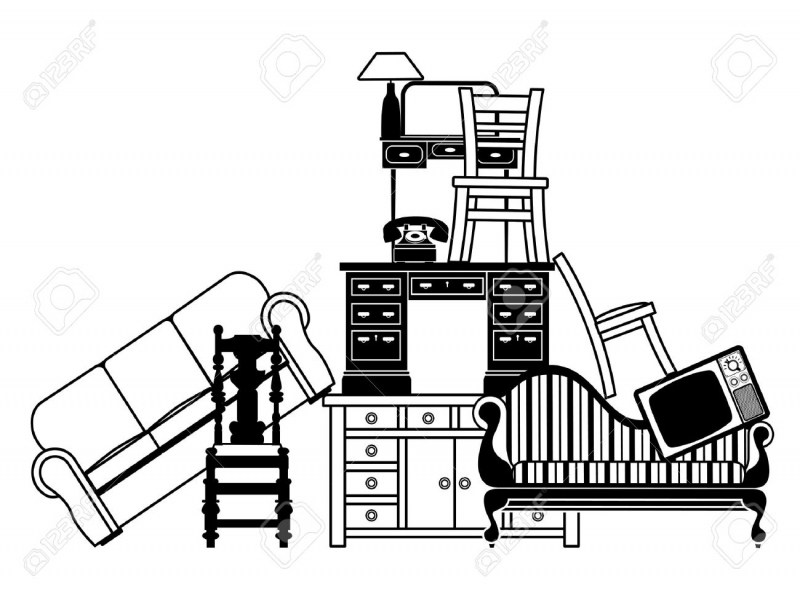 800x600 Moving Furniture Clipart. Chair Clipart Black And White Clipart