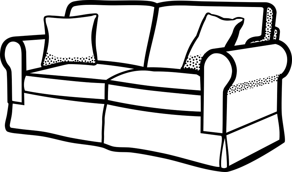 Furniture Clipart Black And White | Free download best Furniture ...