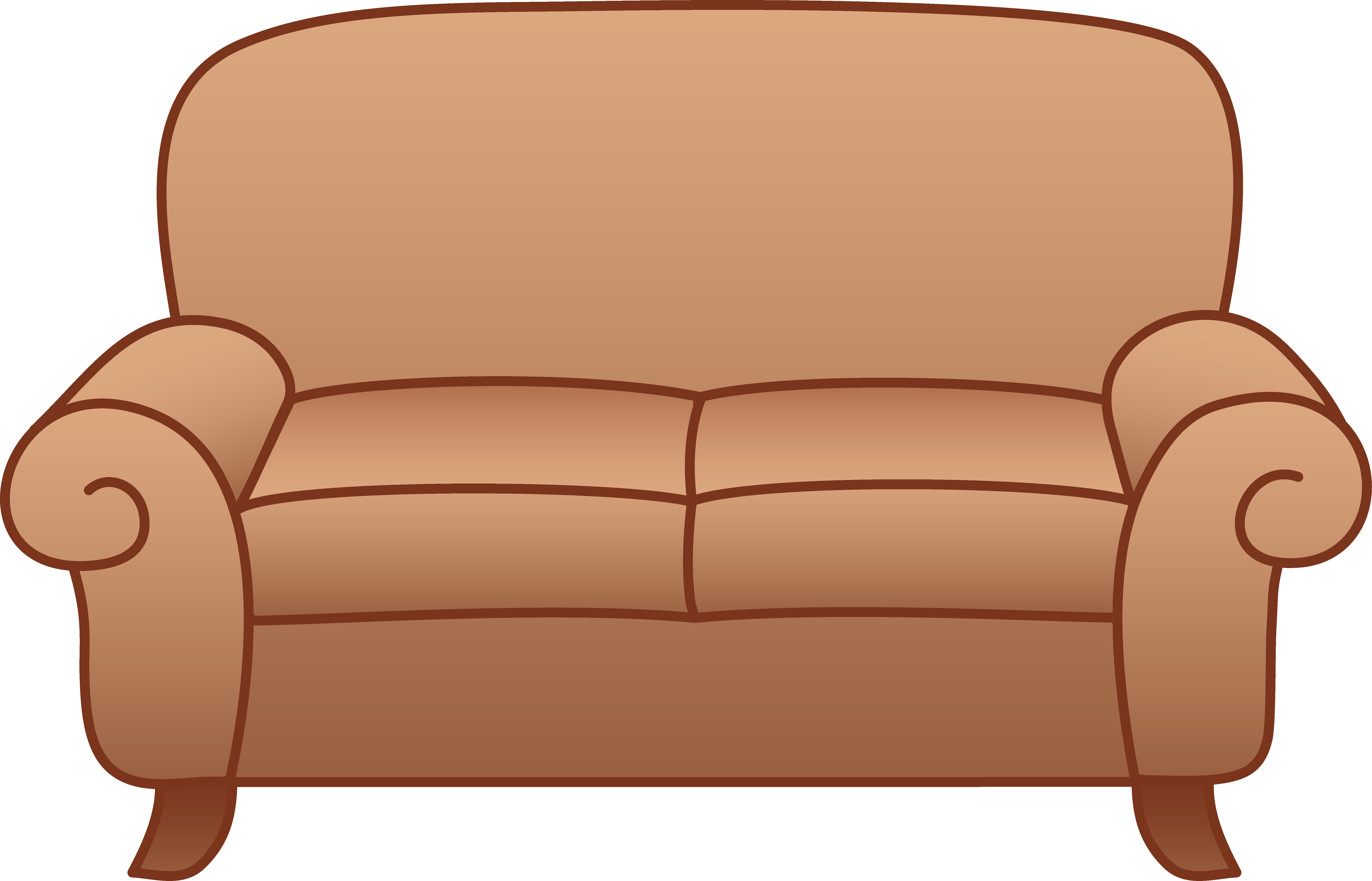 6947x4462 Furniture Clipart Sofa