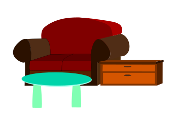 347x237 Furniture Clipart Transparent
